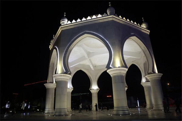 阿拉伯跑柱子雕刻