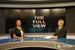 林松添大使接受南非国家电视台直播专访